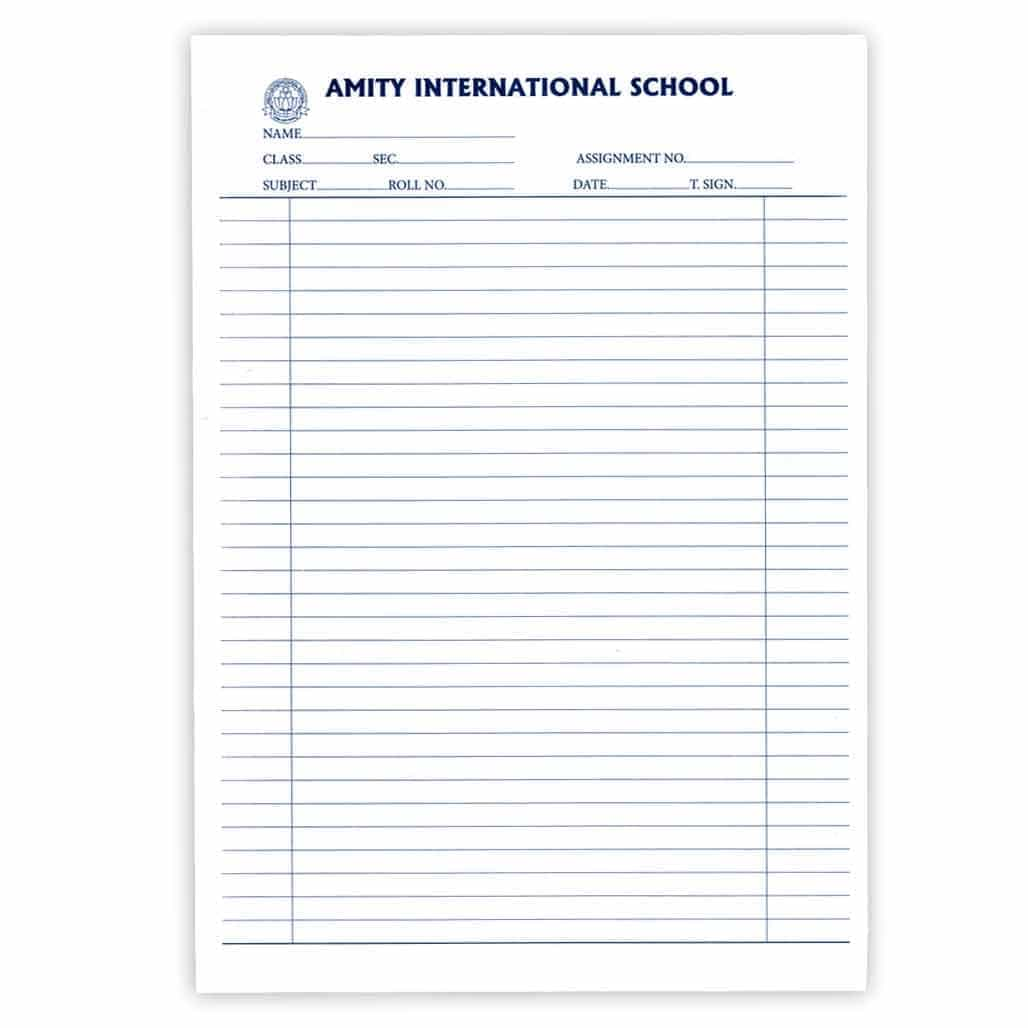 Amity Assignment Sheets