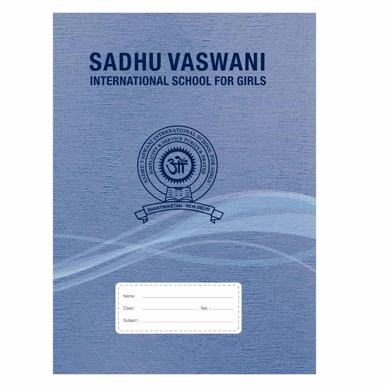 SVIS Medium Square Mathematics Notebook - 144 Pages